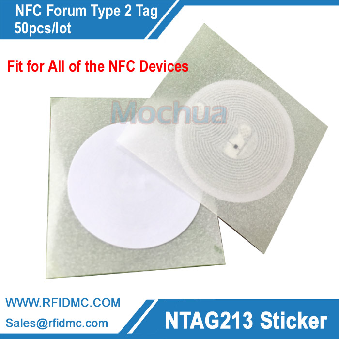 Ntag213 NFC Tag Sticker Ntag 213 NFC Sticker Tag Universal Lable RFID Tag for all NFC enabled phones 50pcs 4pcs lot nfc tag sticker 13 56mhz iso14443a ntag 213 nfc sticker universal lable rfid tag for all nfc enabled phones dia 30mm