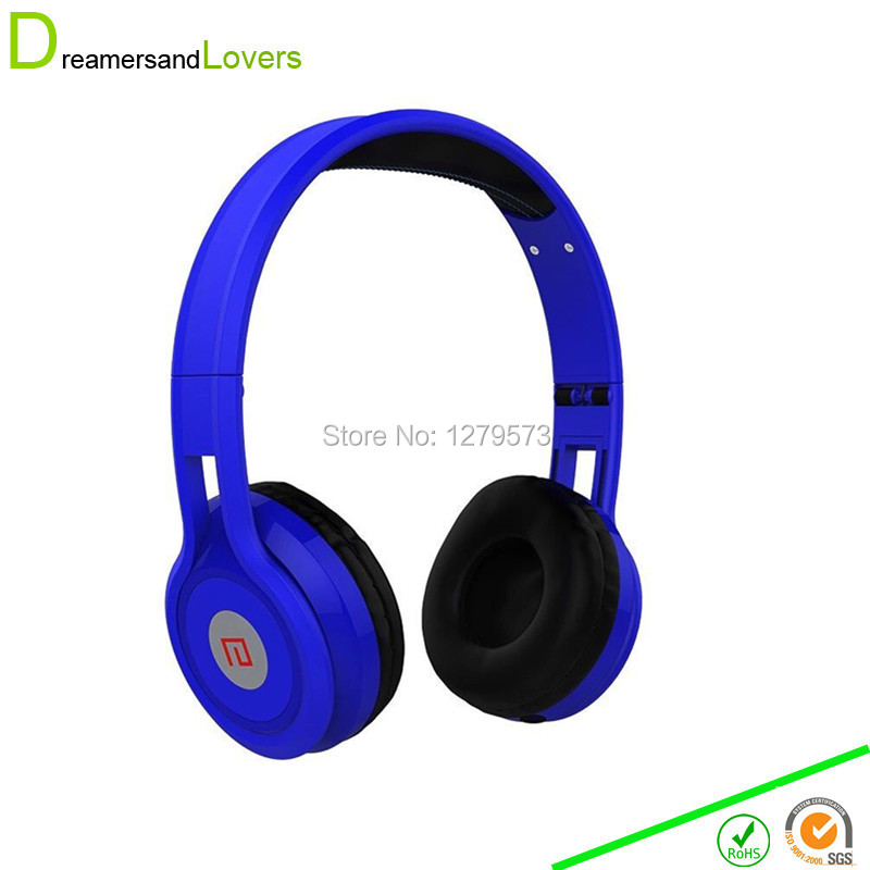 Dreamersandlovers A59 Headphones Over Ear Headset Earphone with Mic and Volume Control for Iphone Samsung PC Laptop Tablets Blue