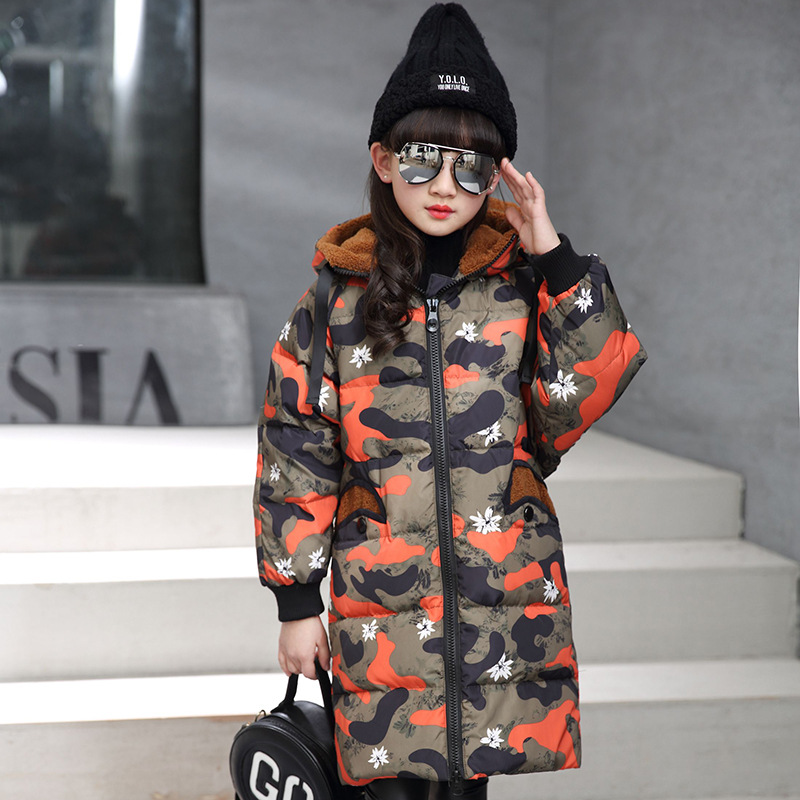 XYF8708 Boys Girls Winter Down Jackets Kids Fur Collar Thicken Winter Jacket Coat Warm Outerwear Long Coat 85% White Duck Down buenos ninos thick winter children jackets girls boys coats hooded raccoon fur collar kids outerwear duck down padded snowsuit