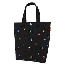 Durable Canvas Tote Bag Preppy Style Printing Women Fashion Casual Shoulder Bag Simple Designer Ladies Cheap