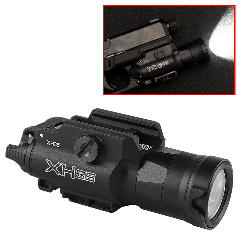 XH35 Ultra High Weapon Light 1000 Lumens Dual Output White LED Adjustable Tactical Flashlight Brightness & Strobe hunting lamp-in Weapon Lights from Sports & Entertainment    1
