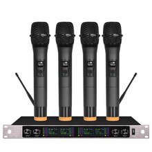 Wireless microphone professional four-channel stage KTV show handheld conference headset
