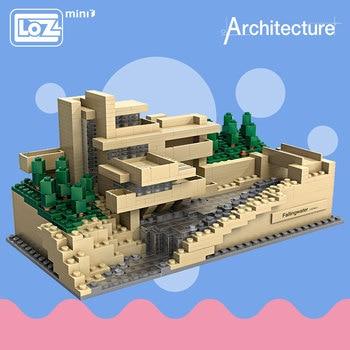 LOZ Toys Falling Water Villa Model Tree House Bricks Mini Building Blocks Architecture Educational Toys For Children Castle 1016 21035 lego
