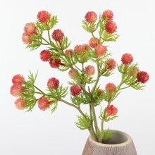 Искусственный огненный филиал Dragon Ball домашний декор, зеленый растение комнатный Свадебный направляющий путь поддельные цветы для садового растительного стола Декор