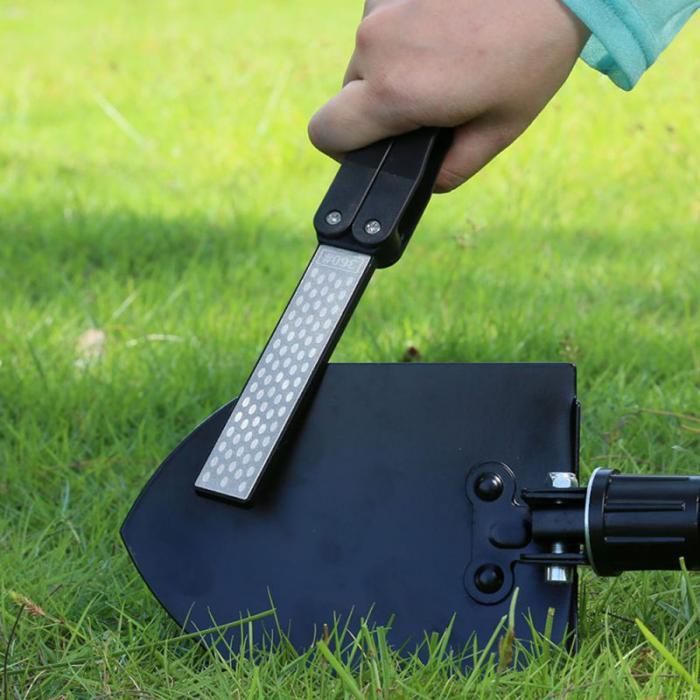 Pocket Diamond Knife Sharpener On Shovel