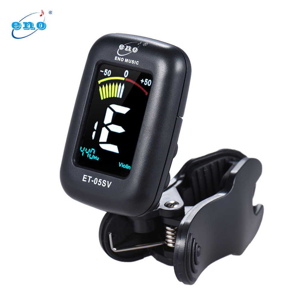 ENO ET-05SV Profesional Clip-on Tuner Tuning Otomatis Modus dengan Colorful LCD Display untuk Biola Cello Ganda Bass Chromatic