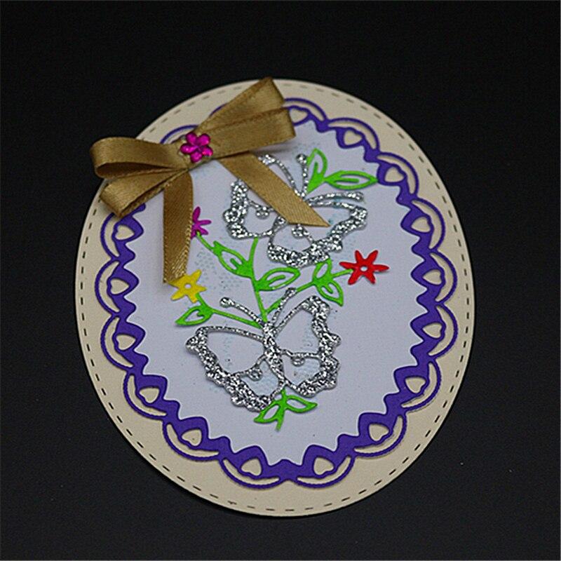 AZSG Butterfly garland Metal Cutting Mold DIY Scrapbook Album Decoration Supplies Clear Stamp Paper Card