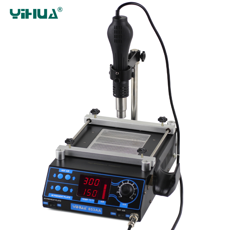 110V/220V YIHUA 853AA High power ESD BGA rework station PCB preheat and desoldering IR preheating station