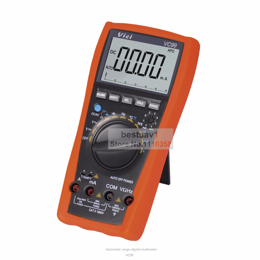 Vichy vc99 3 67 auto range digital multimeter ammeter voltmeter vichy vc99 3 67 auto range digital multimeter ammeter voltmeter temperature tester unit symbol 61 selection analog bar display in multimeters from tools on biocorpaavc