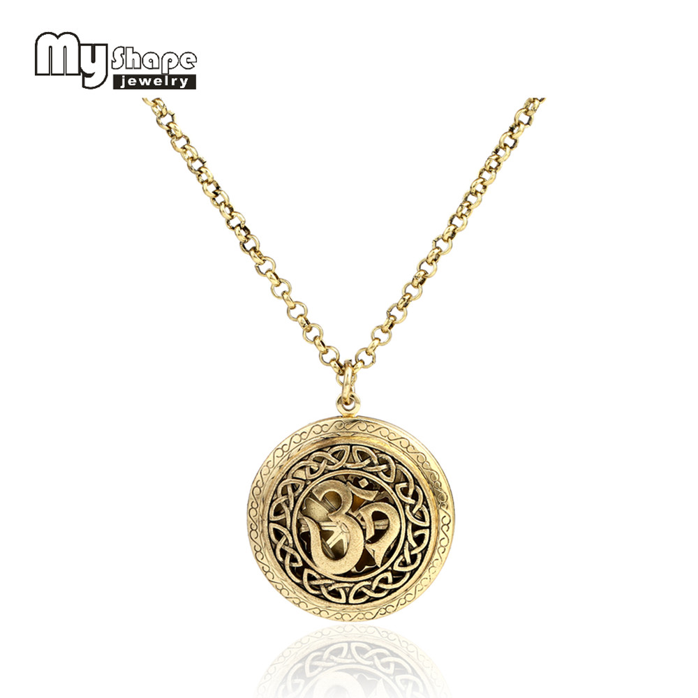 my shape New Diffuser Necklace Jewelry OM Yoga Pattern Lockes