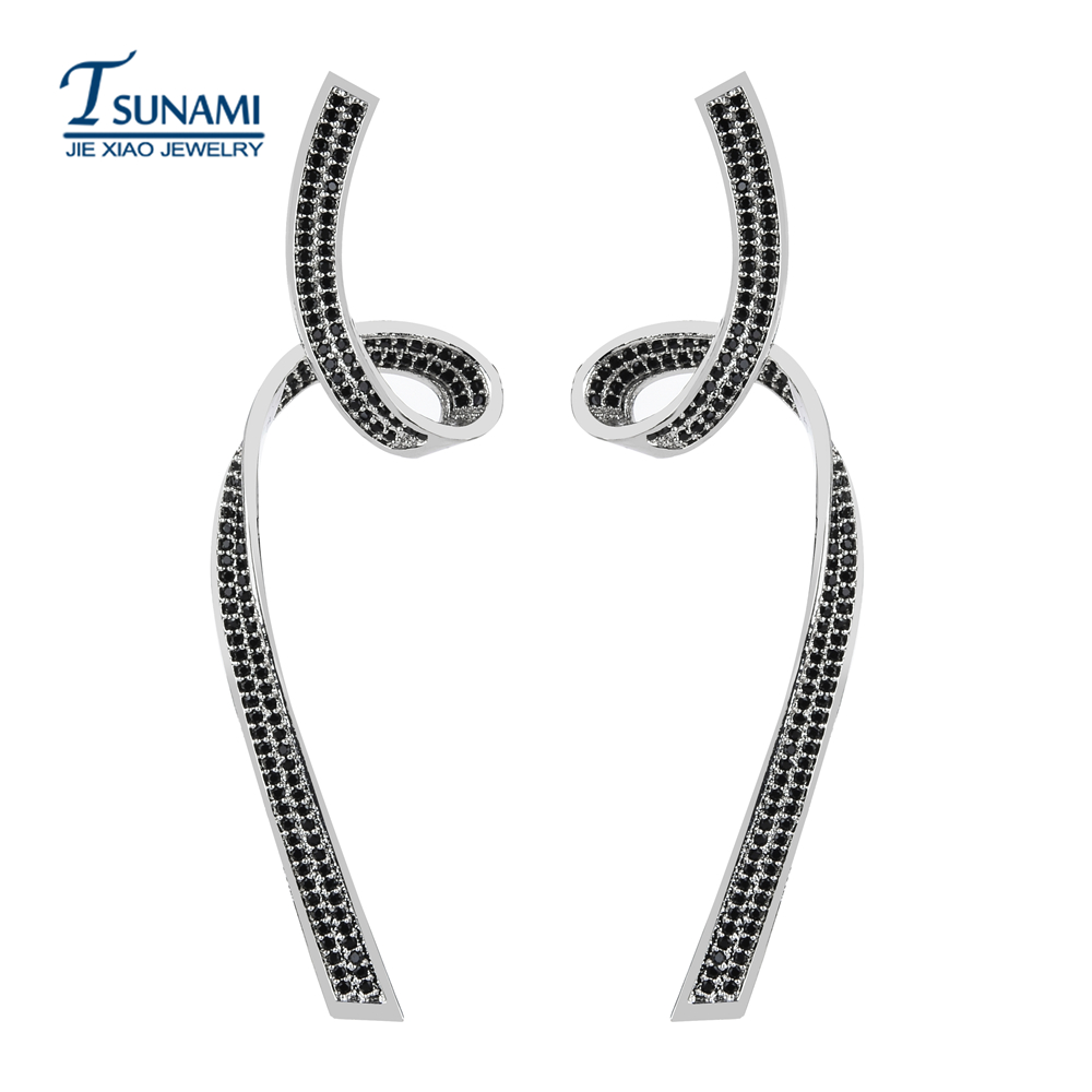 Top quality AAA zircon earrings for female luxury jewelry gifts ER-203