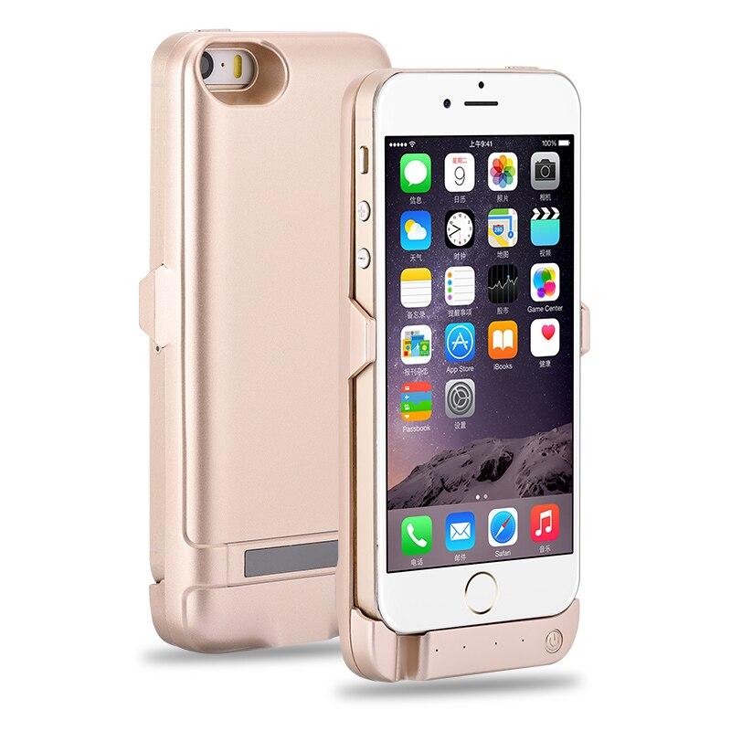 imágenes para 4200 mAh Extended Power Bank Cargador de Batería de Reserva Externa Cubierta de la Caja Para el iphone 5 5S SÍ
