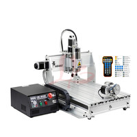 CNC 6040 4 axis wood router carving USB Mach3 control Woodworking Milling Engraver Machine with 2.2KW water cooling spindle