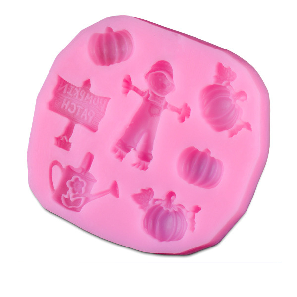 Hot sales farm theme silicone mold Fondant Cake Decorating Tools Silicone Soap Mold Silicone Cake Mold D131