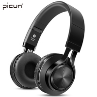 Picun BT 06 Bluetooth Wireless Headphone Earphone For Phone Stereo Headset With Mic Mp3 Memory Card