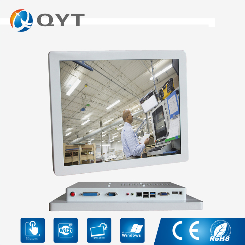 Energy Saving Industrial Computer Intel 3217U 1.8GHz aio Industrial 2*RS232/4*USB 17 inch Panel pc with intel core i3
