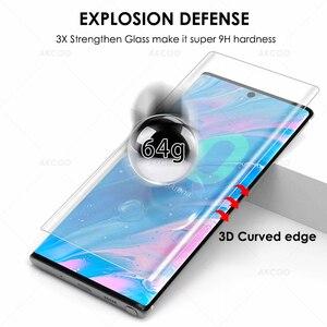 Image 4 - 10D Akcoo Note 10 УФ стекло для защиты экрана с разблокировкой по отпечатку пальца для Samsung Galaxy Note 10 S10 Plus S8 9 5G стеклянная пленка