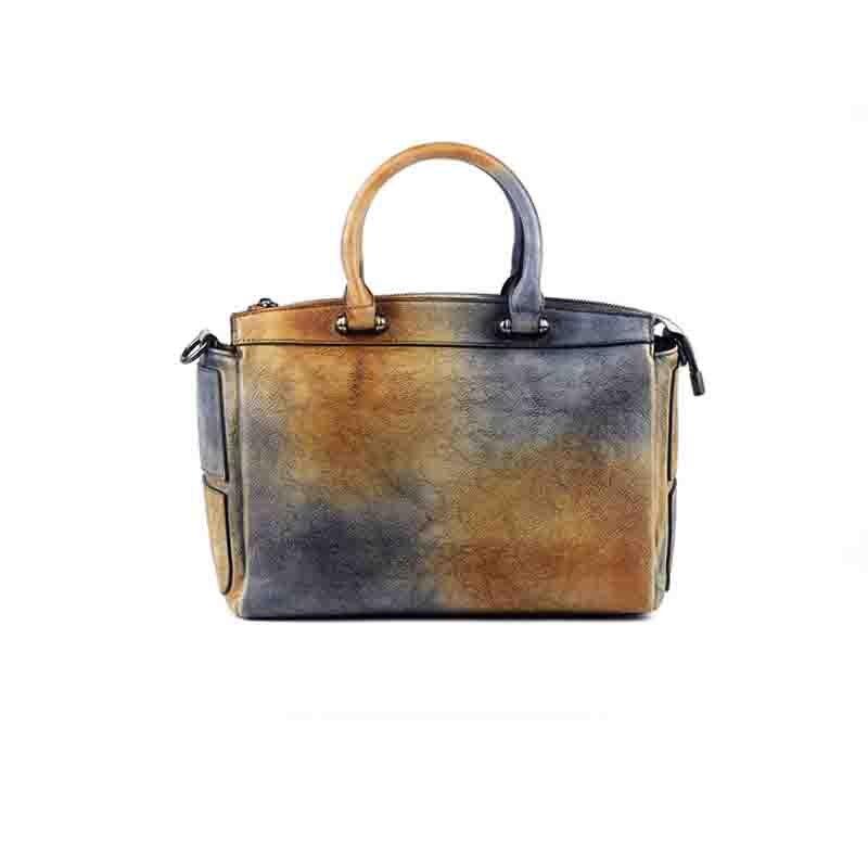 Women Handbag Real Leather 2018 New Handmade High Quality Original Ladies Shoulder bag Crazy Horse Colorfull Leather Vintage Sac