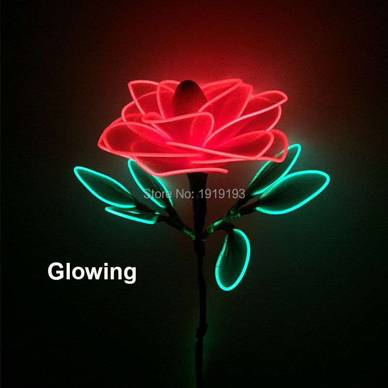 Christmas Decoration for Home Led Strip Glowing Flower Love Confession Props EL Cold Light Romantic Rose for Wedding Party by 3V classic candlestick hollow iron art lamp for romantic wedding home decoration