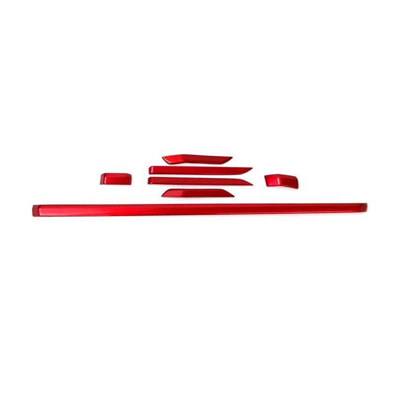 7pcs Car-Styling Interior Accessories ABS Red Middle Cosole & Speaker Decora Cover For Honda CRV CR-V 2017 2018 ветровик rein для honda cr v iii 2006 2012 кроссовер на накладной скотч 3м 4 шт