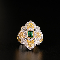 925 Silver Zircon Ring Silver Bar 925 Jewelry for Women European Court style vintage style
