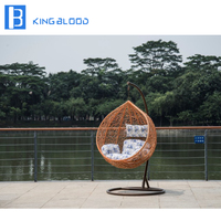 100% handmade Outdoor Furniture Poly Rattan Hanging Chair
