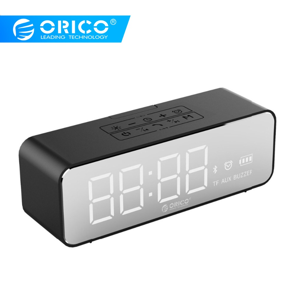 ORICO Wireless Bluetooth4 2 Speaker with Alarm Clock LDE Display screen Music Surround Outdoor Waterproof Support
