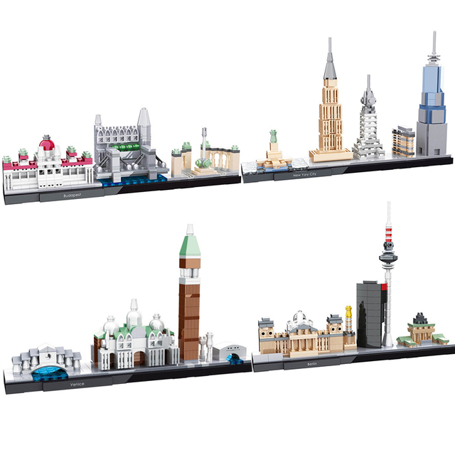 df5badc87 Diamond mini blocks NO compatible legoed Great City Architecture New York  model building kits blocks kids