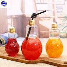 Creative Led String Light Plastic Transparent Bulb Water Bottle Fruit Juice Coffee Tea Drink Cup Party Decoration
