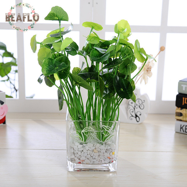 1pc green artificial waterlily leaves plant silk flower arrangement 1pc green artificial waterlily leaves plant silk flower arrangement wedding office home decoration mightylinksfo