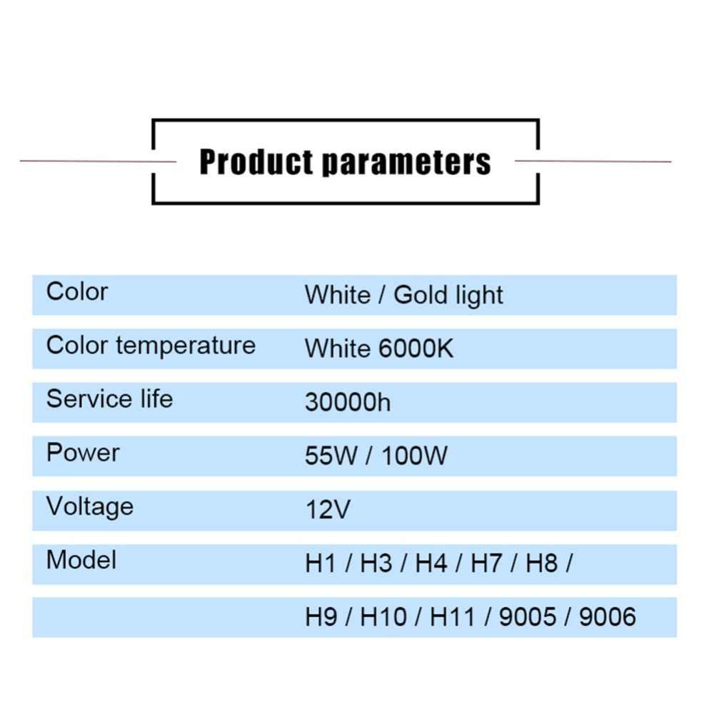 VooVoo 1 זוג H3 H7 אוטומטי הלוגן מנורות 6000K לבן 12V H1 H4 H8 H9 H11 9005 HB3 9006 HB4 רכב הלוגן הנורה אמפולה Voiture