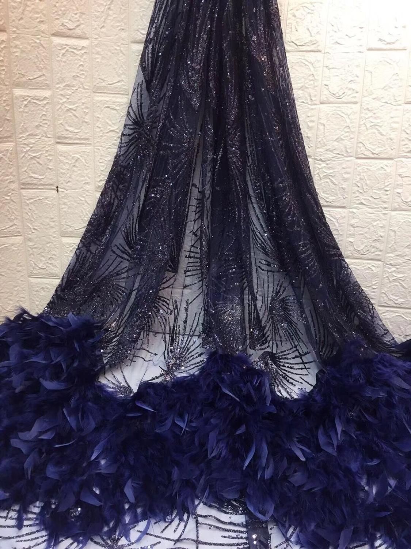Ev ve Bahçe'ten Dantel'de Tül dantel yapıştırılmış glitter moda David 6.3102 afrika glitter dantel kumaş parti elbise için 5 yard/lot işlemeli'da  Grup 3
