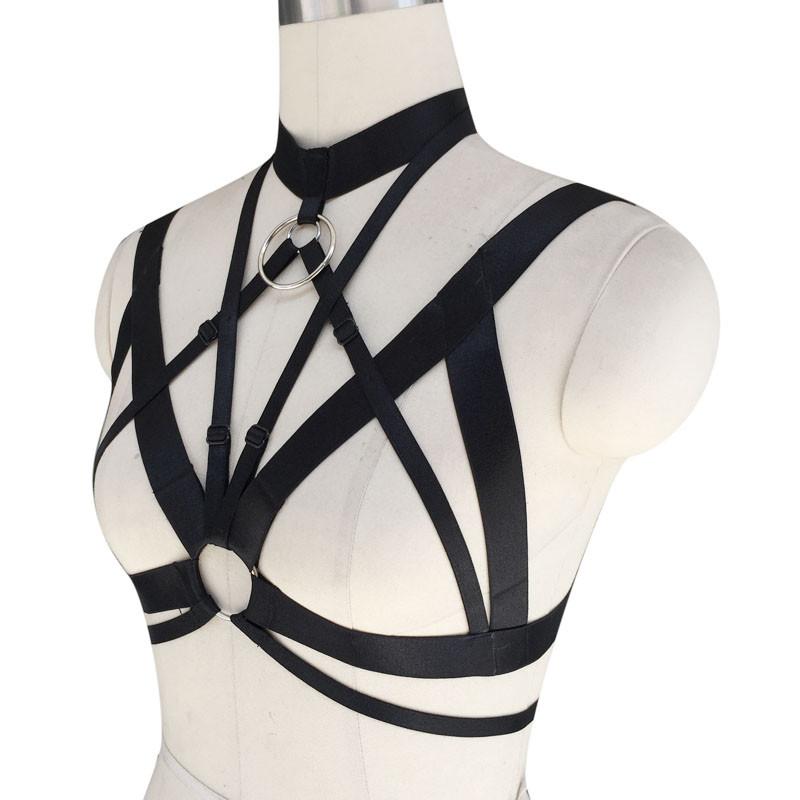 HTB1_Lb0IVXXXXcrXXXXq6xXFXXXe Hot Women Spandex Adjustable Bondage Cage Bra Harness For Women