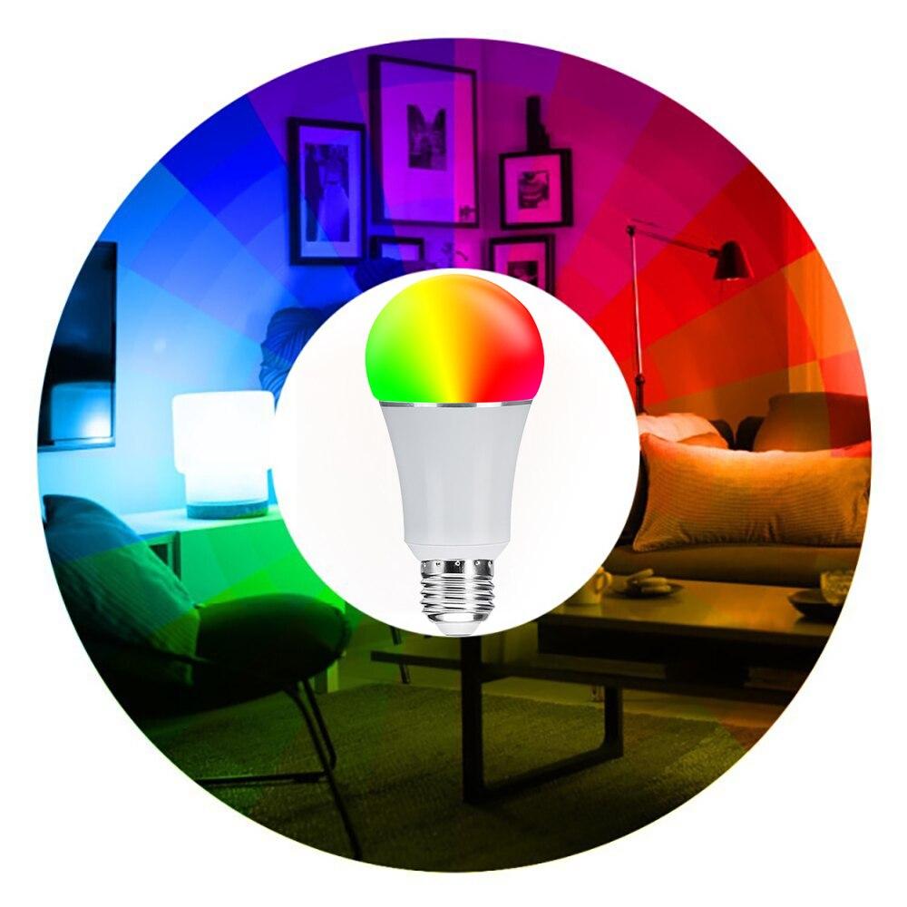 3 Pack Led Smart Wifi ampoule 16 millions RGB couleur lampe de scène Compatible avec Alexa Google Home Phone App 60 W équivalent - 4