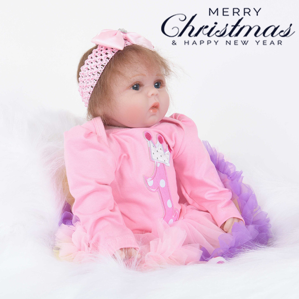 Christmas Hair Band Realistic 22 55cm Reborn Baby Doll Soft Silicone VinylChristmas Hair Band Realistic 22 55cm Reborn Baby Doll Soft Silicone Vinyl