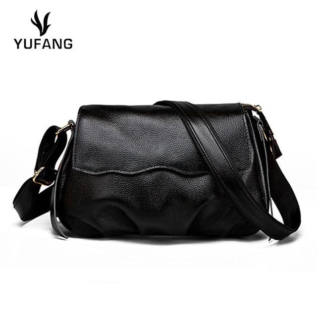YUFANG Shoulder Bag Female Genuine Leather Handbag For Women Daily Ladies  Messenger Bags Envelope Crossbody Bag