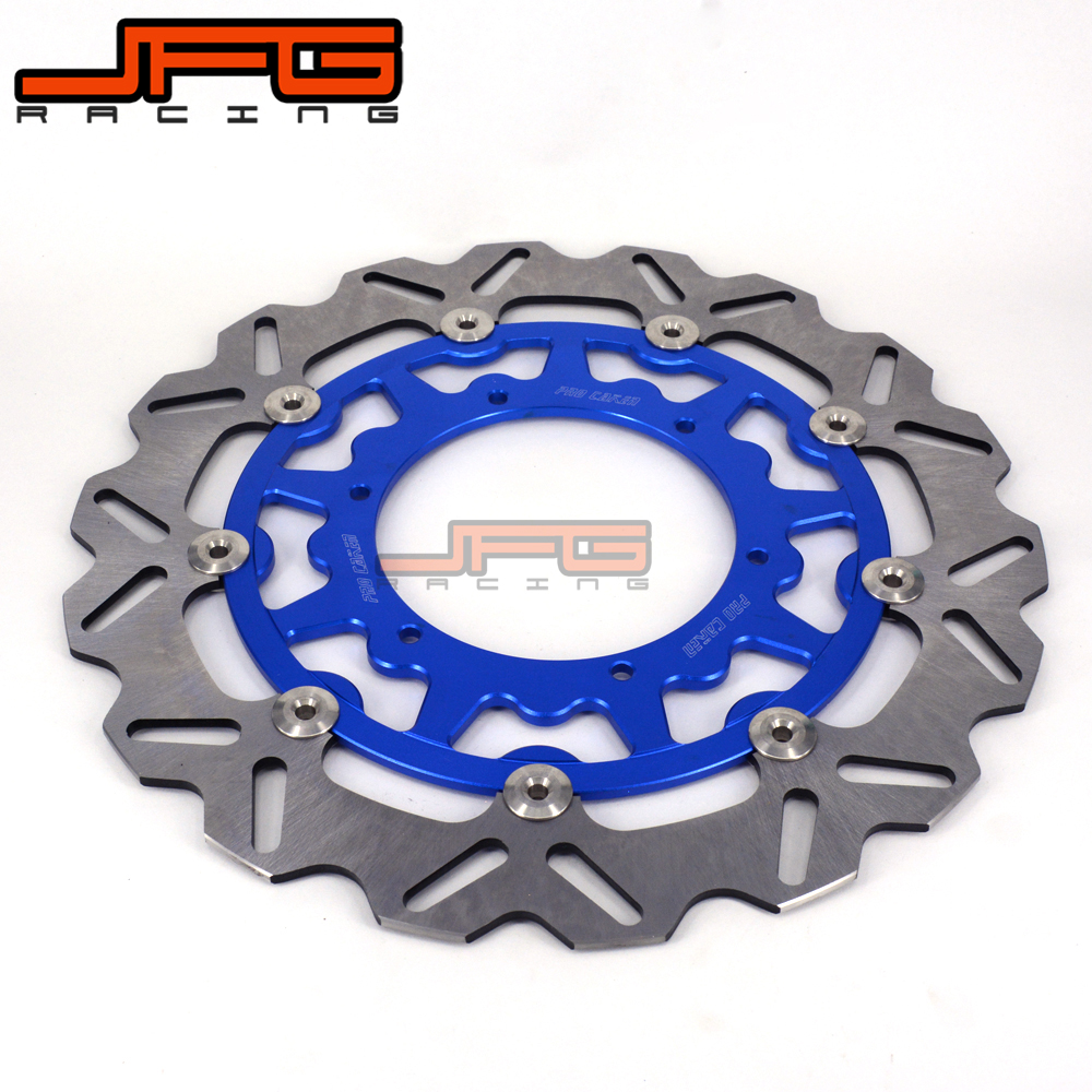 320MM Front Floating Brake Disc Rotor For YAMAHA WR WRF YZ YZF WR250 YZ250 YZ250F YZ450F WR250F WR450F Supermoto high quality 270mm oversize front mx brake disc rotor for yamaha yz125 yz250 yz250f yz450f motorbike front mx brake disc