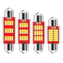 31 мм, 36 мм, 39 мм, 41 мм, C5W, C10W, CAN-шина, без ошибок, фсветильник, 12 SMD 4014 светодиодный Светодиодная лампа для салона автомобиля, лампа для чтения, бе...