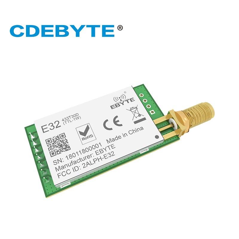 10pc lot 433MHz SX1276 LoRa UART Wireless Transceiver E32 433T30D IoT 433 mhz 30dBm Transmitter Receiver