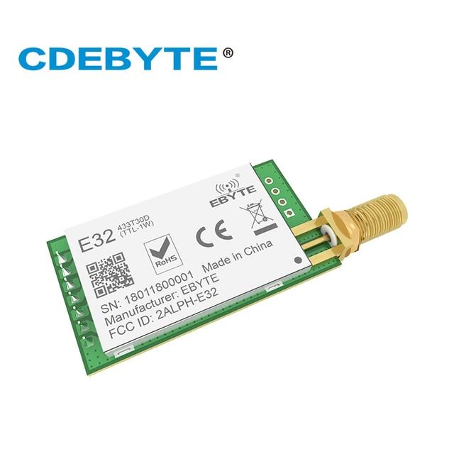 10pc/lot 433MHz SX1276 LoRa UART Wireless Transceiver E32 433T30D IoT 433 mhz 30dBm Transmitter Receiver Long Range Transmission