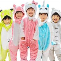 Freepp Wholesale Cartoon Unicorn Stitch Panda Kids Pajamas Hooded Girls Boys Pajama Child Cosplay Animal Onesies