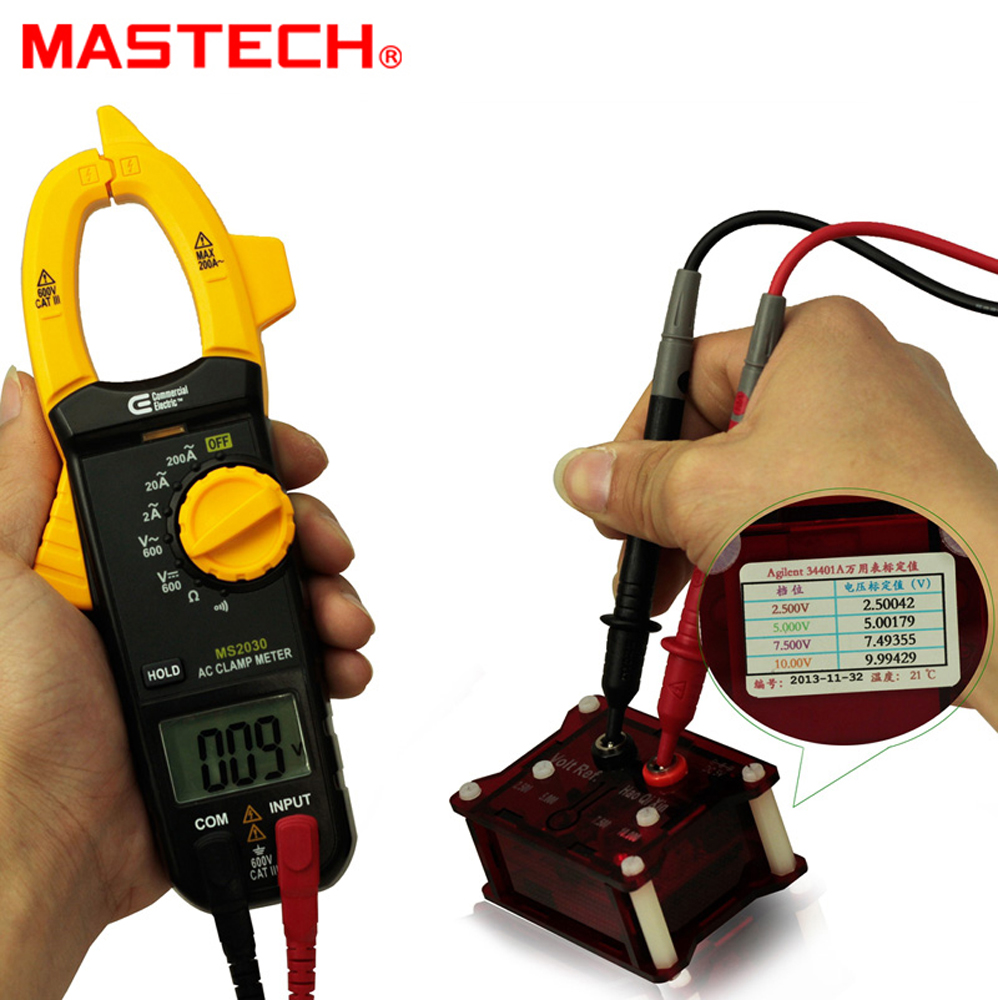 MASTECH MS2030 2A-400A Mini AC Digital Clamp Meter Multimeter AC DC Voltage / AC Current / Resistance / Diode mastech ms2001c digital clamp meter multimeter ac dc voltage current diode resistance measurement