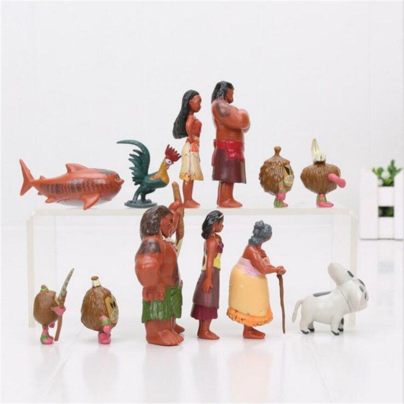 12pcs set 3 7cm Vaiana boneca Moana Princess PVC Action Figures font b Toys b font