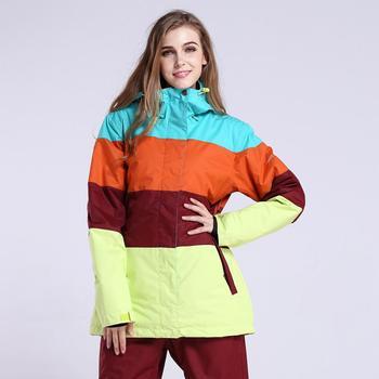 Snow gsou ski suit lady double board single board puzzle series