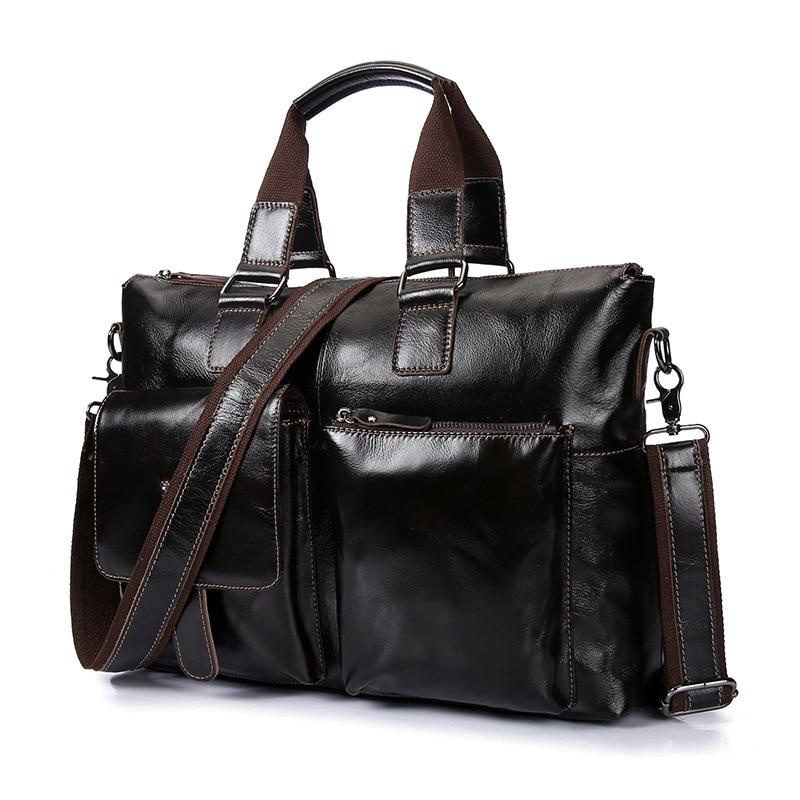 Sac à main en cuir véritable mallette d'affaires sac à bandoulière pour ordinateur portable sacs à main en peau douce de luxe hommes de haute qualité sac de voyage