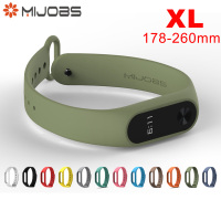 Original Mijobs Long Strap XL For Xiaomi Mi Band 2 Multiple Bracelet Change Optional Beautiful Stylish Xiaomi Eco System