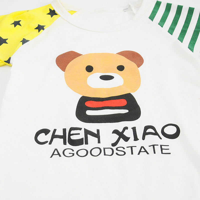 2019 Summer Children Boys Girls Striped Clothing Sets Baby Star Bear T shirt Short Pants 2Pcs sets Infant Outfit Kids Tracksuits in Clothing Sets from Mother Kids