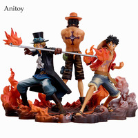 3pcs Set Anime One Piece DXF Luffy Ace Sabo PVC Action Figure Collectible Model Toy KT647
