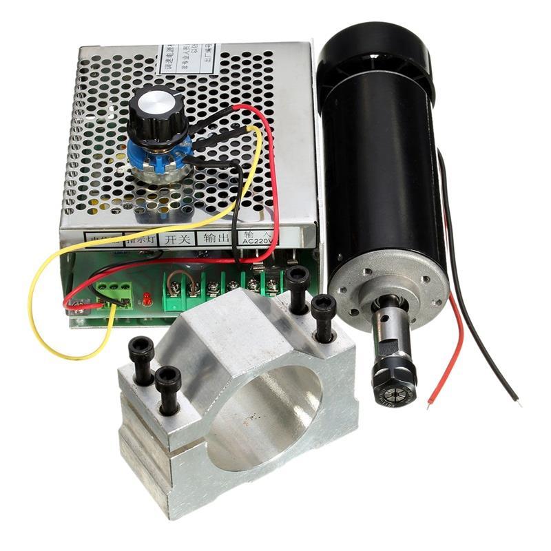HOT-500W broche refroidie par Air ER11 CNC Kit moteur de broche + alimentation réglable 52MM pinces ER11 pince mandrin pour gravure M