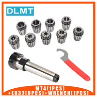 ER32 Spring Clamps 9PCS MT4 ER32 1PCS ER32 Wrench 1PCS Collet Chuck Morse Holder Cone For CNC Milling Lathe tool